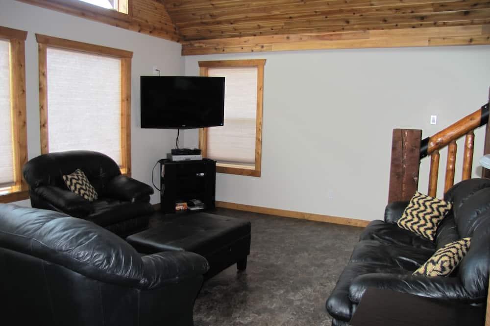 Luxury-mökki, 3 makuuhuonetta, Keittiö, Vuoristonäköala - Olohuone