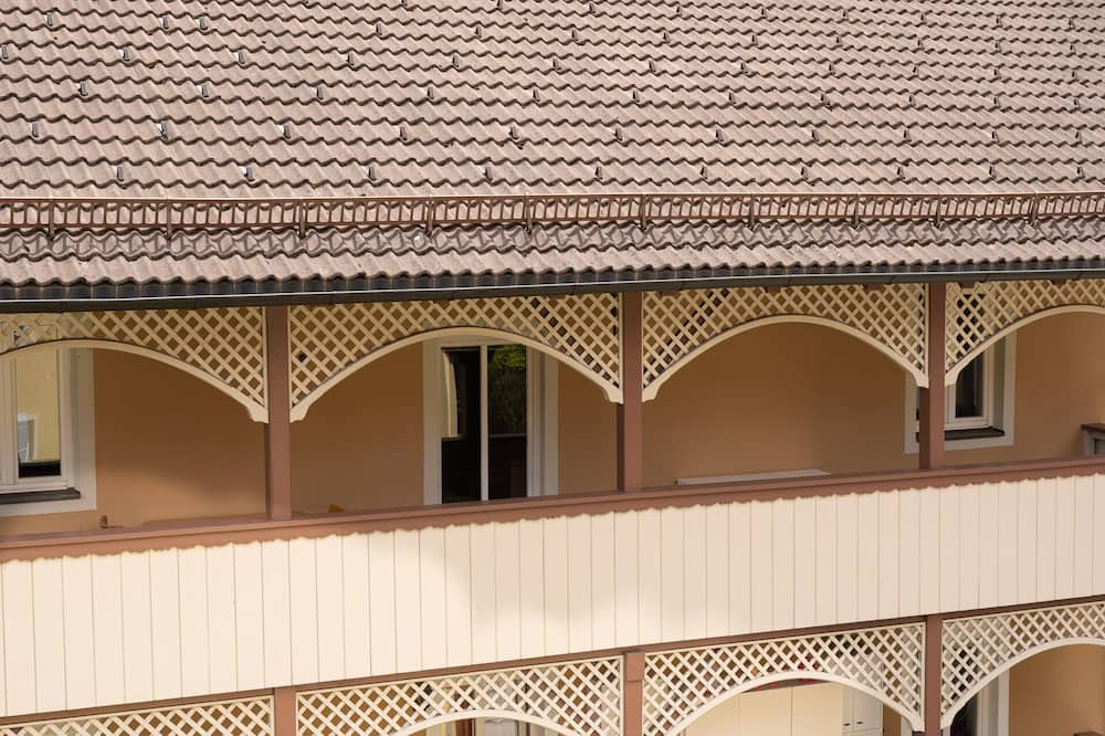 Appartement, 1 chambre, balcon, vue cour intérieure (Fettnäpfchen) - Balcon