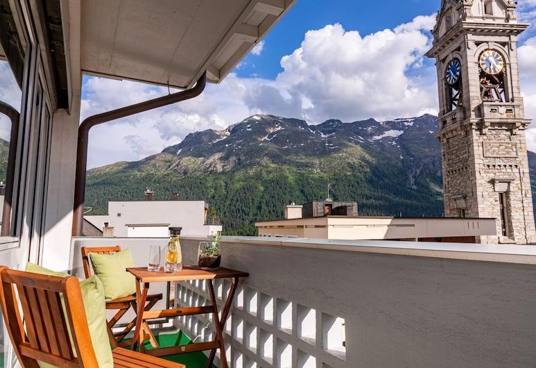 Hotel Arte, St. Moritz, Junior Suite, Balcony, Balcony