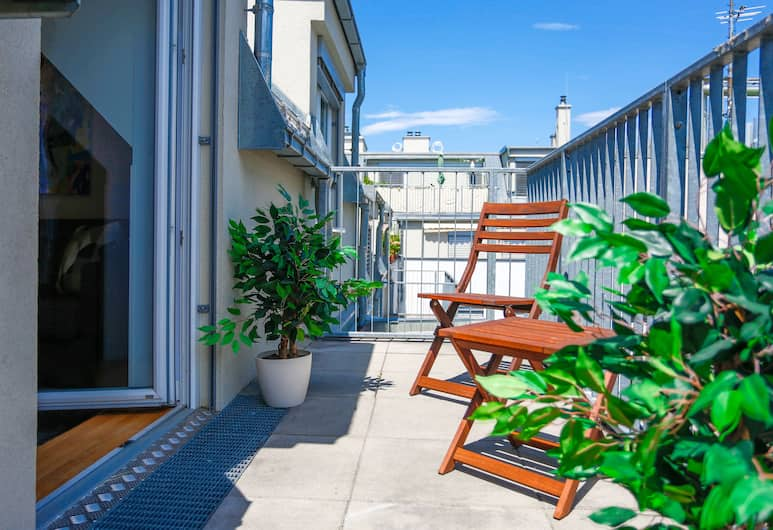 SKY9 Penthouse Apartments , Beč, Comfort penthouse, 1 spavaća soba, terasa (Erlachgasse 118), Terasa/trijem