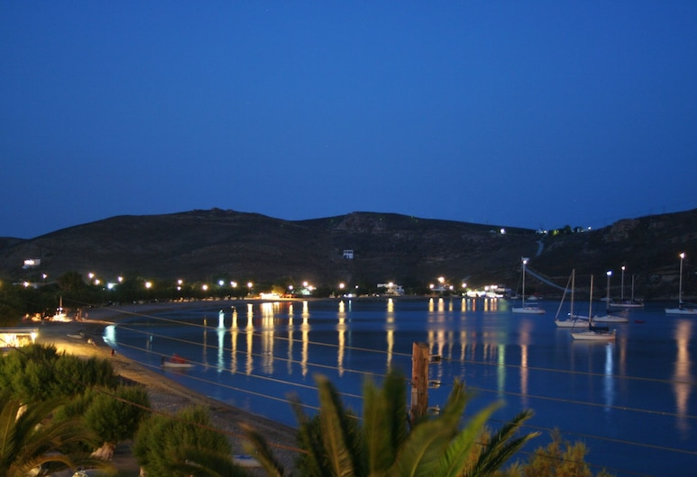 Cyclades Hotel Serifos, Serifos, Hotel Front – Evening/Night