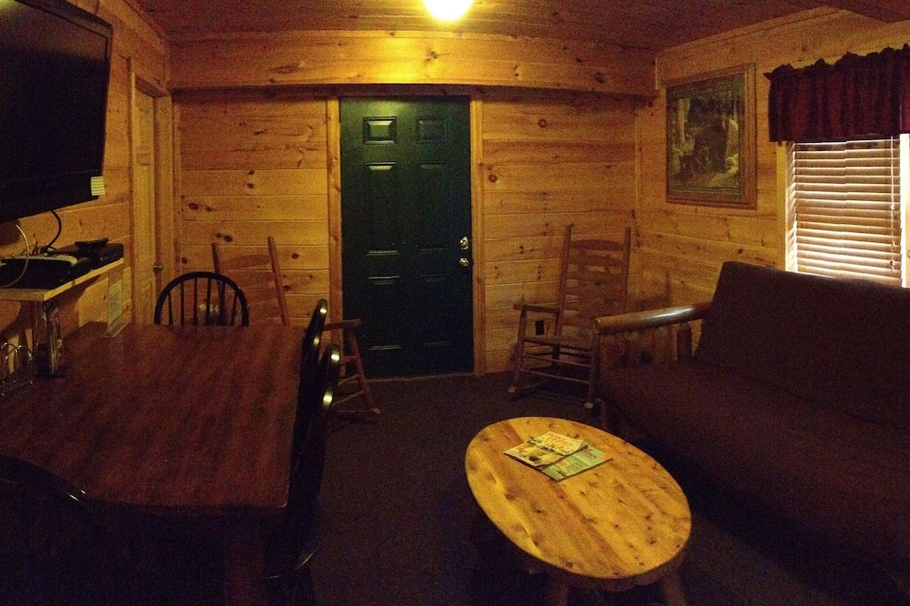 Linda's Bear Lodge (with 2 Full Size Beds) - Wohnzimmer