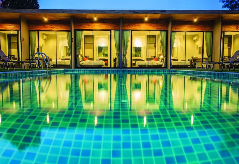 D Living Pattaya, Pattaya, Phòng đôi Deluxe, Quang cảnh hồ bơi, Phòng