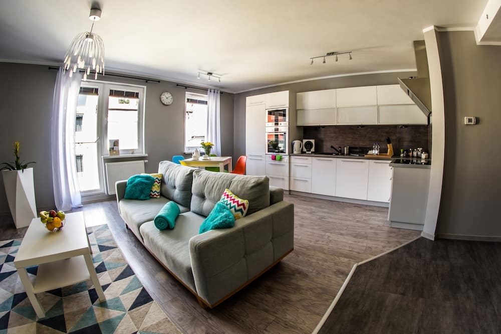 Departamento superior, 1 habitación, para no fumadores, cocina básica - Sala de estar