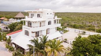 Foto van Koox El Hotelito Beach hotel in Mahahual