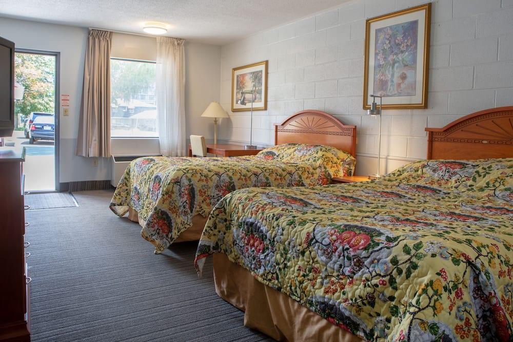 غرفة - سريران كبيران - غرفة نزلاء