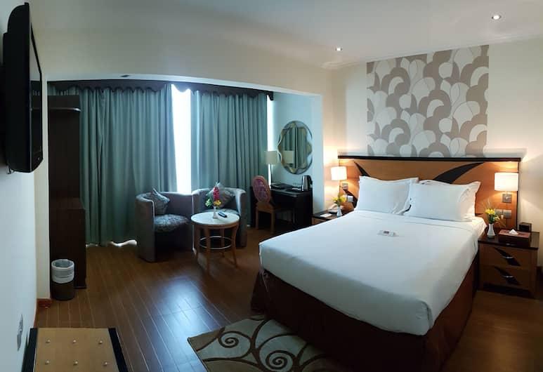 Al Jawhara Metro Hotel , Dubajus, Standartinio tipo kambarys (1 dvigulė / 2 viengulės lovos), Svečių kambarys