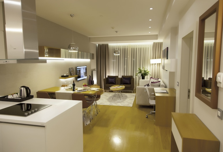The Leos Residence, Istanbul, Deluxe Apartment, 1 Bedroom, Kitchen, City View, Private kitchenette