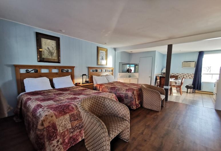 Motel Deblois, Ste.-Anne-de-Beaupré, Apartment, Küche, Zimmer
