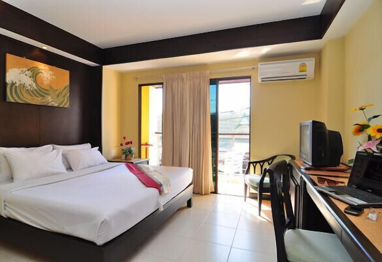 星光海灘旅館, 巴東, 標準客房, 1 張標準雙人床, 露台, 城市景, 客房