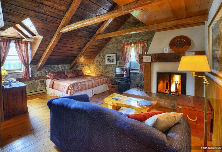 أوبيرغ بيكر, تشاتو-ريتشر, غرفة عادية - سرير ملكي مع أريكة سرير - بمدفأة, غرفة نزلاء