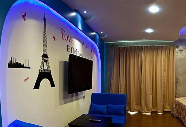Ibiza Kenting Hotel, Hengchun, Čtyřlůžkový rodinný pokoj, 2 dvojlůžka, výhled na pláž, Pokoj