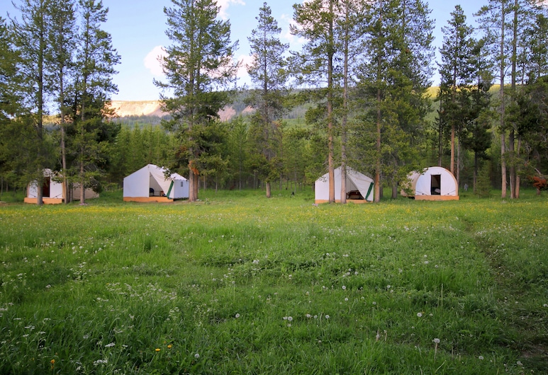 Bedroll and Breakfast - Campground, Moran, Traditional Tent, 2 Twin Beds, Room