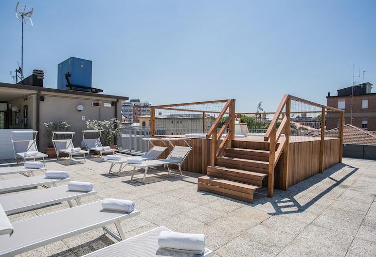 Hotel Cristallo, Cattolica, Terrasse/veranda