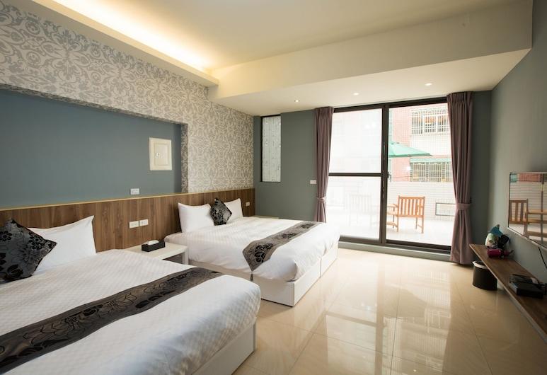 墾丁禾金豐旅店, 恆春鎮, 四人房, 2 張標準雙人床, 客房