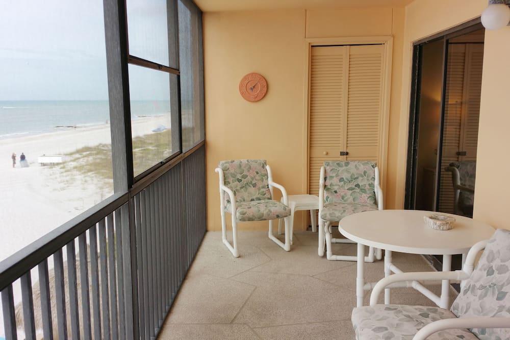 Kooperatīva tūristu mītne, divas guļamistabas, skats uz pludmali - Balkons