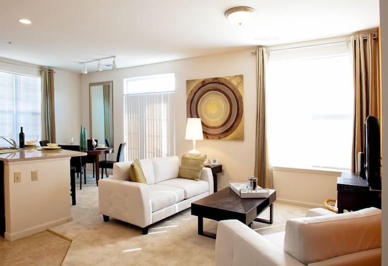 L-Suites At Valley Forge, Norristown, Svetainės zona