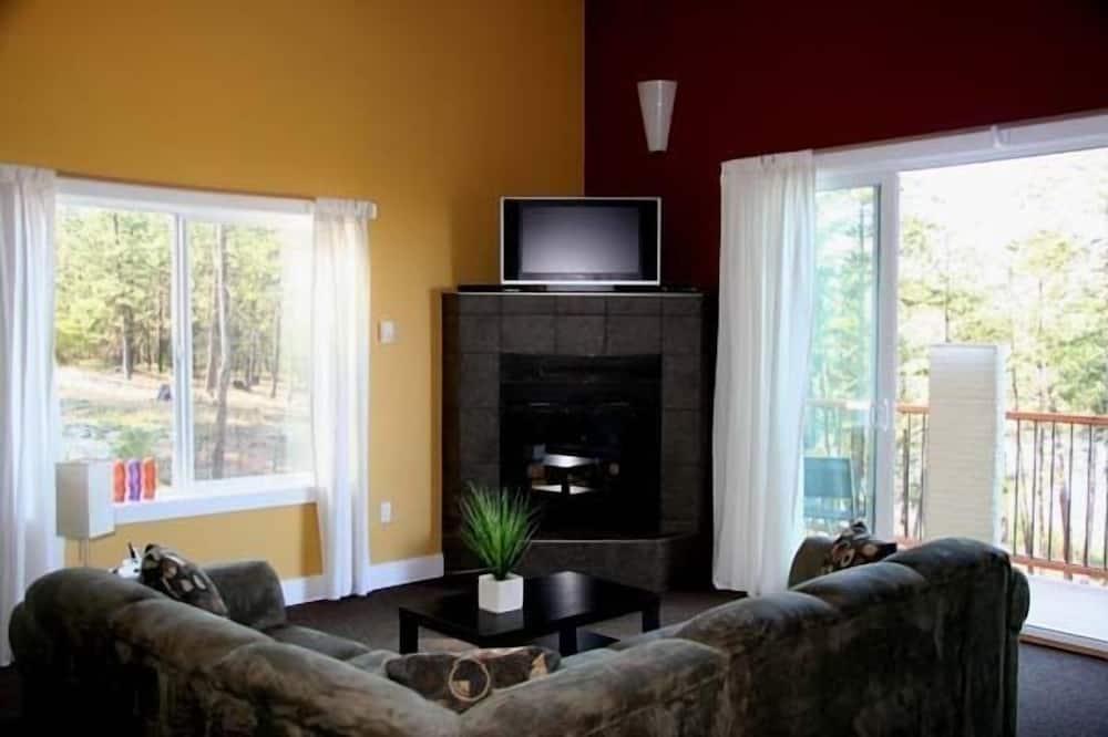 Suite de lujo, 2 habitaciones, cocina, vista al lago - Sala de estar