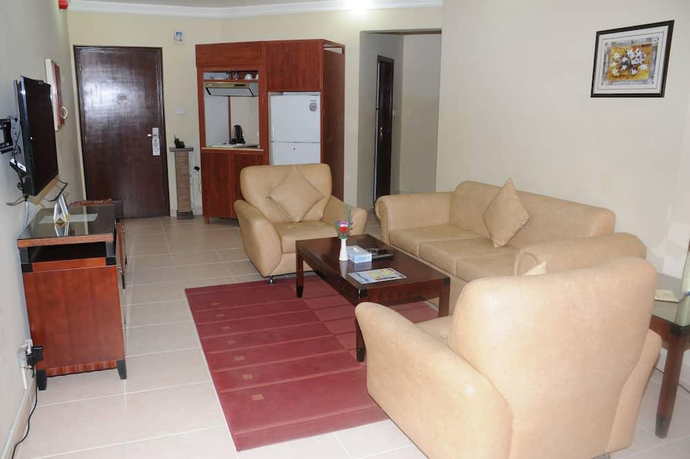 Apartamento Deluxe, 2 habitaciones - Sala de estar
