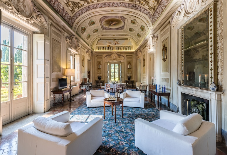 Castello di Montegufoni, Montespertoli, Panoramic külaliskorter, 4 magamistoaga (Refrigerator,Galleria), Lõõgastumisala