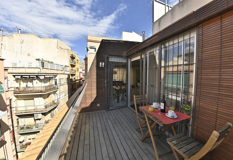 MyFlats Deluxe City Center, Alicante, Penthouse, 1 chambre, terrasse, Chambre