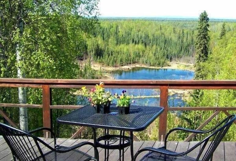 Talkeetna Denali View Lodge and Cabins, Talkeetna, Balkon