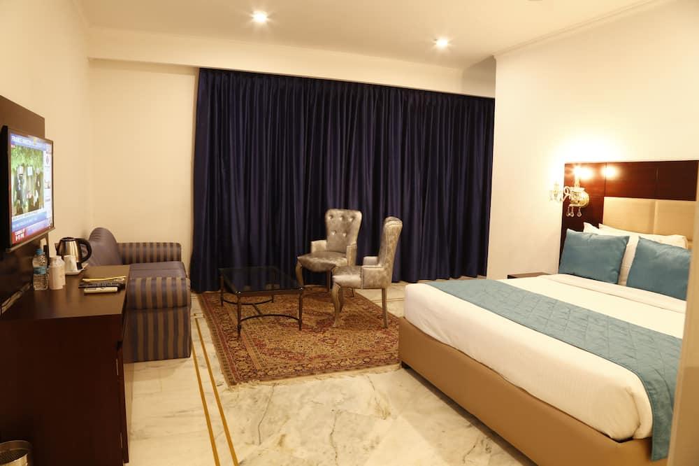 Номер-люкс категорії «Делюкс», 1 ліжко «кінг-сайз», для некурців, з видом на місто - Житлова площа