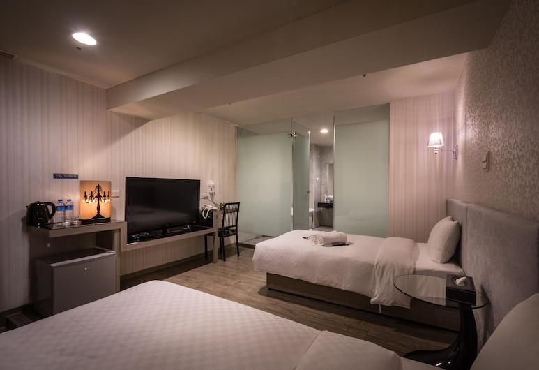 Walker Hotel Sanchong Zhengyi Branch, Jauntaibei, Ekonomiskās klases divvietīgs numurs ar divguļamo gultu (Check in after 9pm only), Viesu numura skats