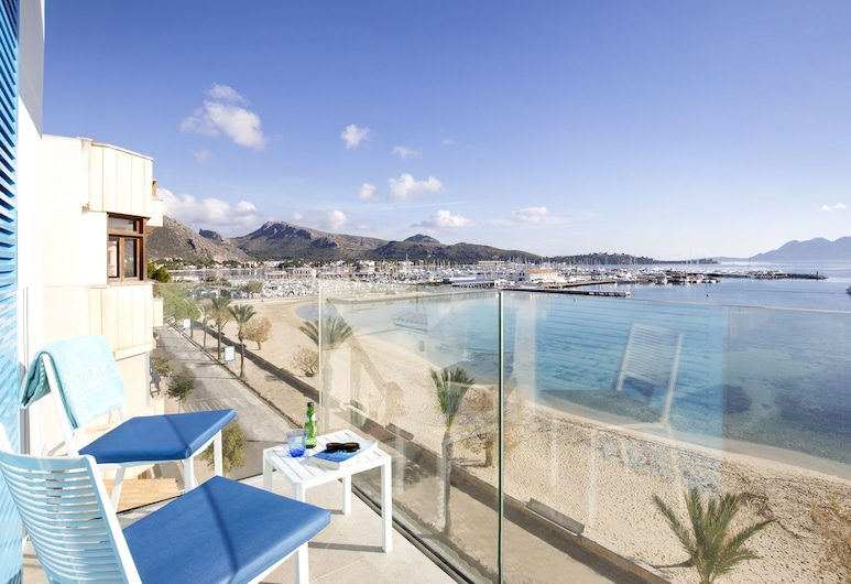 La Goleta Hotel de Mar - Adults Only, Pollensa, Rom – superior, balkong, utsikt mot sjø, Terrasse/veranda