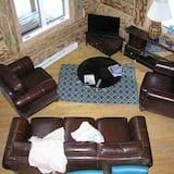 Cabane Deluxe, 2 chambres, 2 salles de bains, vue fleuve - Salle de séjour