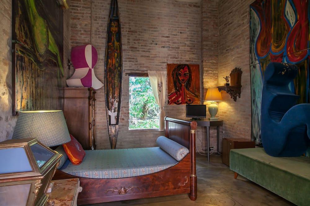 Эксклюзивный люкс, вид на горы - Зона гостиной