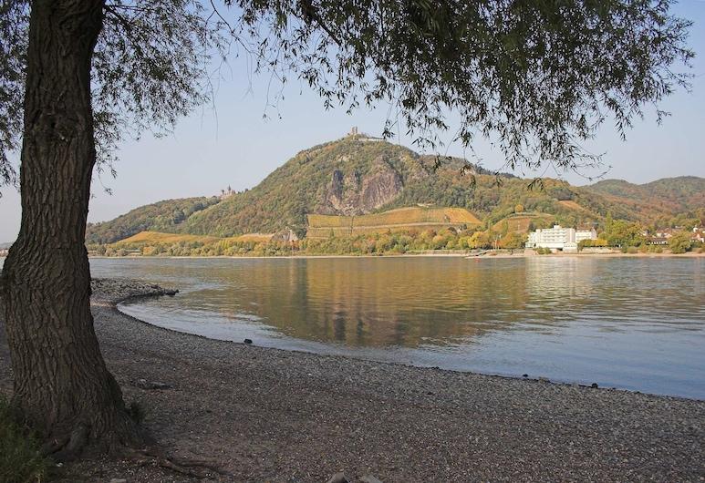 Baynunah Hotel Drachenfels, Königswinter, Doppia Standard uso singolo, vista fiume, lato montagna, Camera