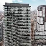 Представительская квартира, 1 спальня, для людей с ограниченными возможностями, вид на город - Балкон