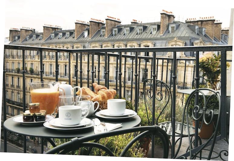 Hotel du Danube Saint Germain, Paris, Dobbeltrom – superior, Terrasse/veranda