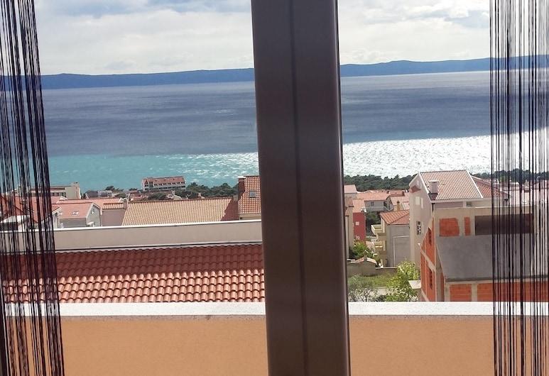 Villa Sara, Makarska, Aukščiausios klasės apartamentai, 2 miegamieji, balkonas, vaizdas į jūrą, Vaizdas iš kambario