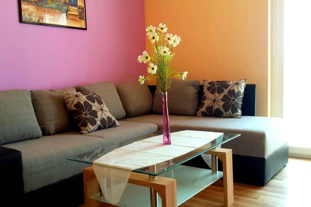 極品公寓, 2 間臥室, 陽台, 海景 - 客廳