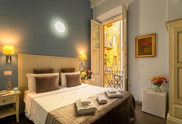 Marlin Rooms, Cagliari, Junior-Doppelzimmer, 1 Schlafzimmer, Kühlschrank und Mikrowelle, Stadtblick, Zimmer