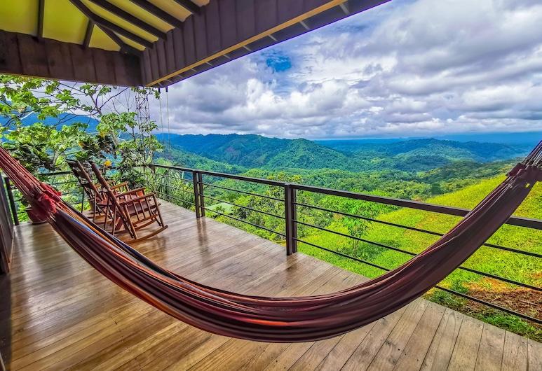 Santa Juana Lodge and Nature Reserve, Naranjito, Bungalov typu Deluxe, 1 spálňa, balkón, výhľad na hory, Balkón