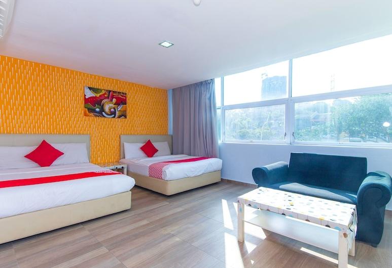 OYO 193 City Kuchai Hotel, Kuala Lumpur, Suite Familiale, 2 lits doubles, Chambre