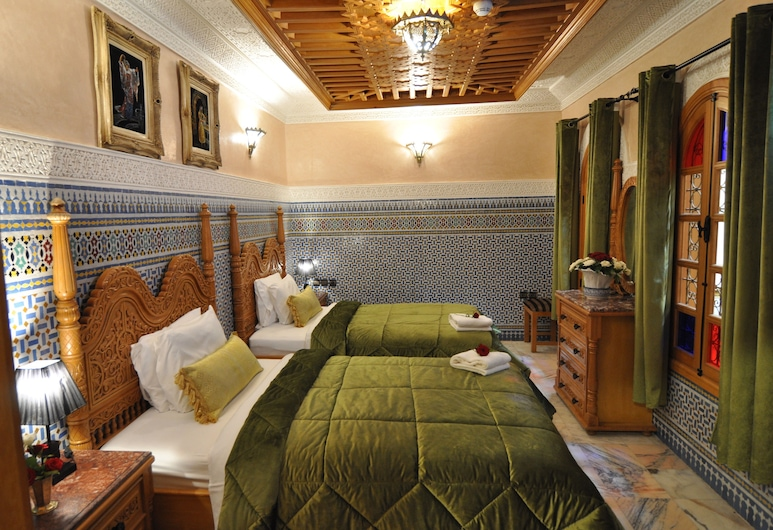 Dar Al Madina Al Kadima, Fès, Chambre Deluxe avec lits jumeaux, 1 chambre, Chambre