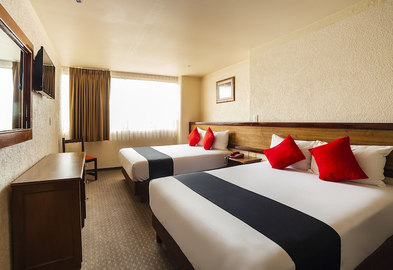 Capital O Don Simon, Toluca, Pokój standardowy, 2 łóżka podwójne, Pokój