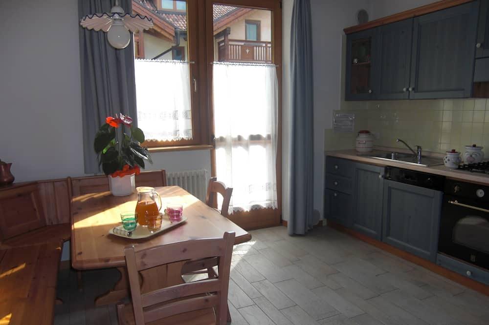 Appartamento, 1 camera da letto, vista montagna, lato montagna - Pasti in camera