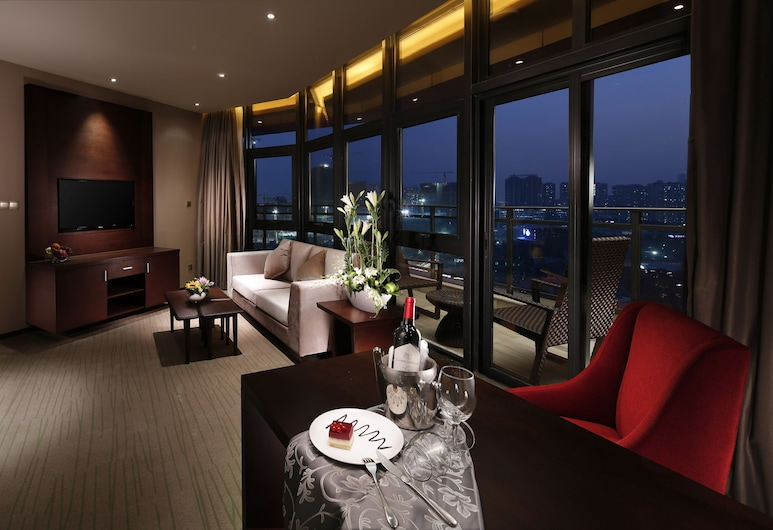 Lia Charlton Hotel Shenzhen, Shenzhen, Apartmá typu Executive, Obývací pokoj