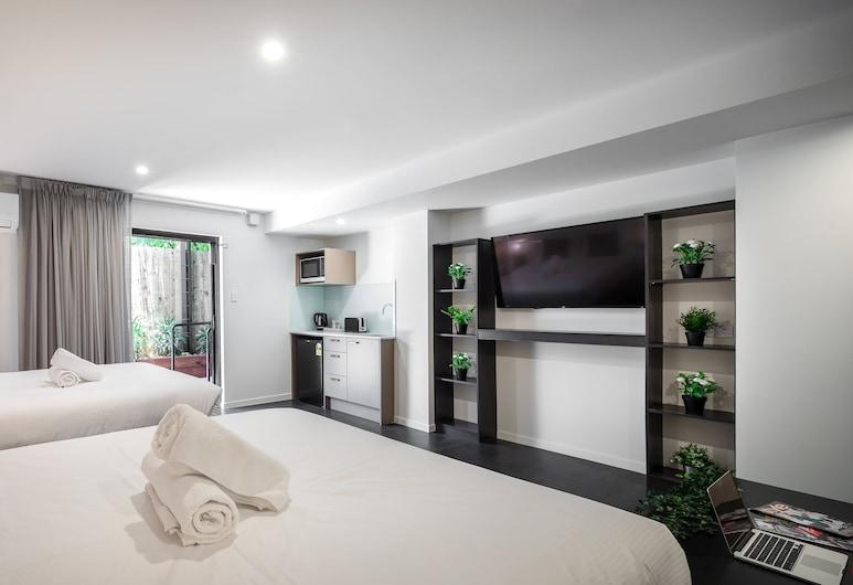 Ascot Budget Inn & Residences, Ascot, Habitación Deluxe con 1 cama doble o 2 individuales, cocina básica, Habitación