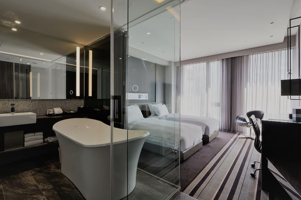 סוויטת דה-לוקס, 2 מיטות יחיד - חדר רחצה