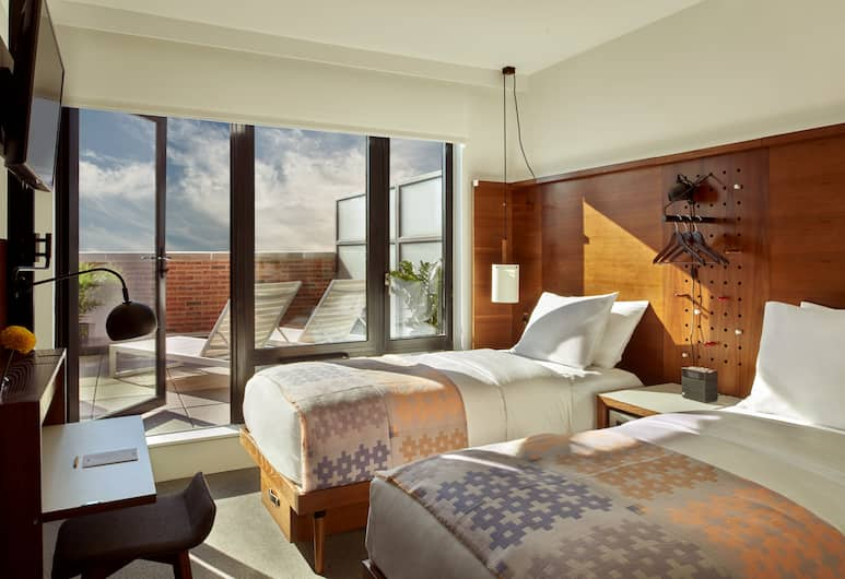 アーロ ソーホー, ニューヨーク, ツインルーム シングルベッド 2 台 テラス, 客室
