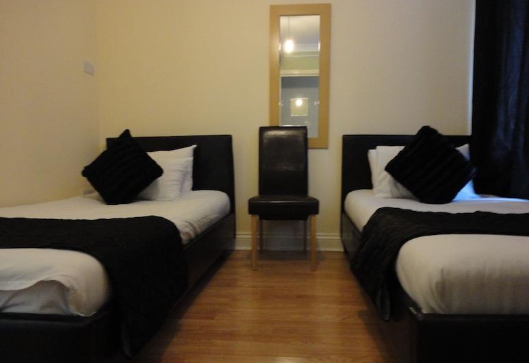羅馬路市場市景酒店, 倫敦, 基本雙床房, 客房