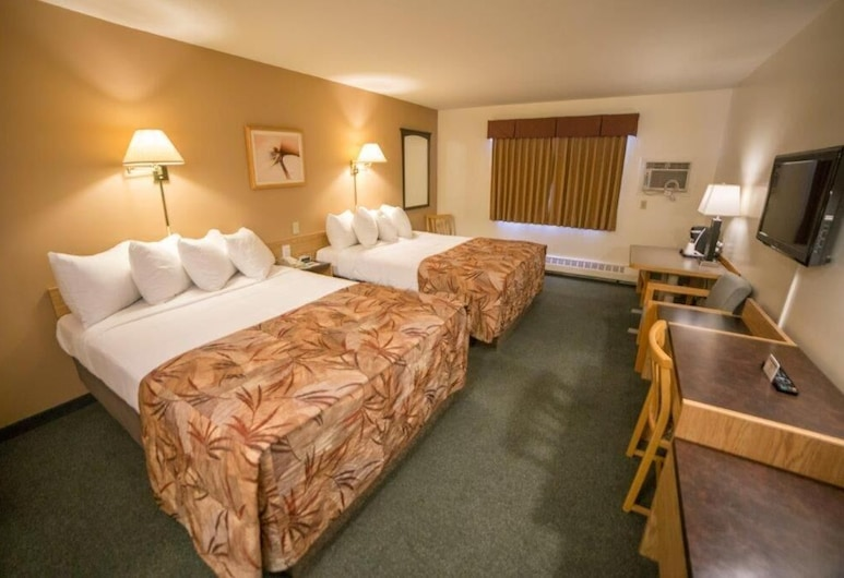 草甸湖林地飯店, 草原湖, 雙人房, 2 張加大雙人床, 客房