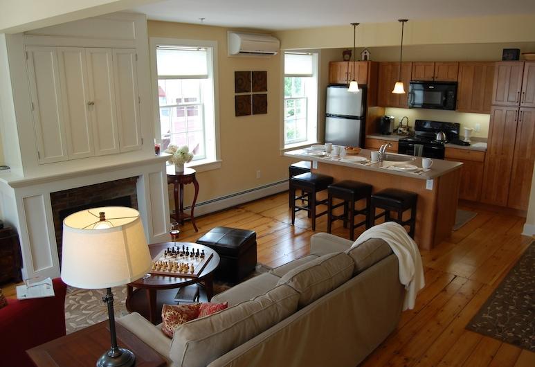 巴特勒之家飯店, 斯托, 公寓, 2 間臥室, 壁爐, 客廳