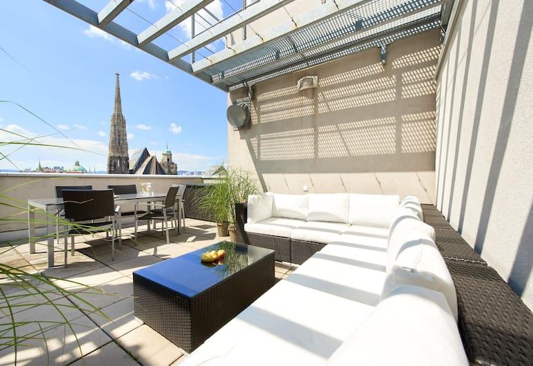 Singerstrasse 21/25 Apartments, Viyana, City Çatı Katı Süiti (Penthouse), 2 Yatak Odası, Şehir Manzaralı, Teras/Veranda